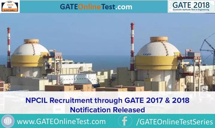 npcil recruitment 2018 gate